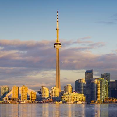 Canada, Ontario, Toronto, Cn Tower and Downtown Skyline-Alan Copson-Photographic Print