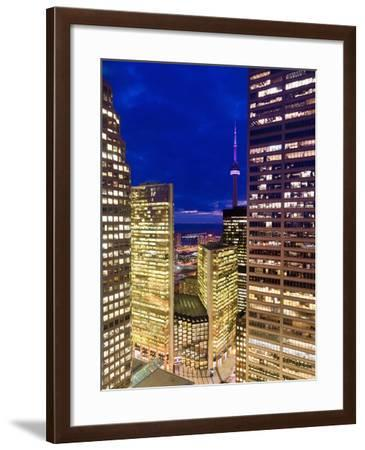 Canada, Ontario, Toronto, Downtown Financial District, Cn Tower-Alan Copson-Framed Photographic Print