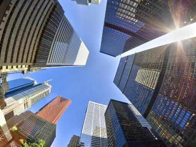 Canada, Ontario, Toronto, Downtown Financial District, Fisheye View-Alan Copson-Photographic Print