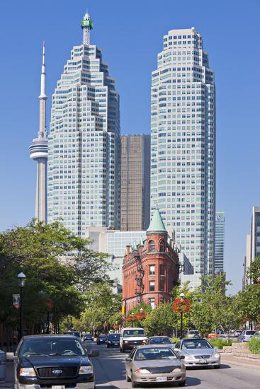 Canada, Ontario, Toronto, Flat Iron Building, Street Scene-Rainer Mirau-Photographic Print