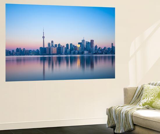 Canada, Ontario, Toronto, View of Cn Tower and City Skyline-Jane Sweeney-Wall Mural