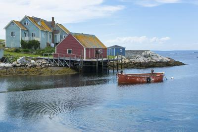 Canada, Peggy's Cove, Nova Scotia, Peaceful and Quiet Famous Harbor with Boats and Homes in Summer-Bill Bachmann-Photographic Print