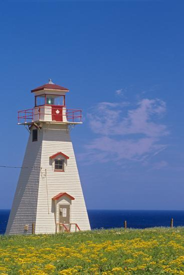 Canada, Prince Edward Island, Cape Tryon. Cape Tryon Lighthouse.-Jaynes Gallery-Photographic Print
