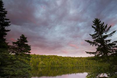 Canada, Quebec, Lake Long Pond. Sunset on Lake and Forest-Jaynes Gallery-Photographic Print