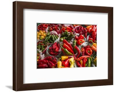 Canada, Quebec, Montreal. Little Italy, Marche Jean Talon Market, peppers-Walter Bibikow-Framed Photographic Print