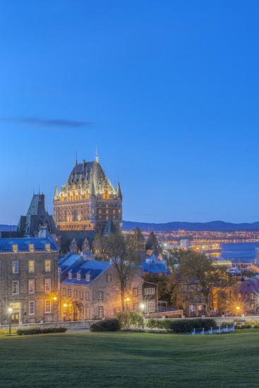 Canada, Quebec, Quebec City, Old Town at Twilight-Rob Tilley-Photographic Print