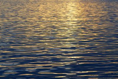 Canada, Sidney Island. Sunset Reflected in Gentle Waves at Sidney Spit-Kevin Oke-Photographic Print