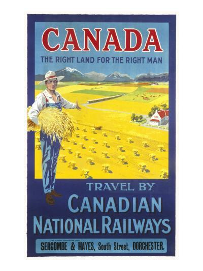 Canada, the Right Land for the Right Man Poster--Giclee Print