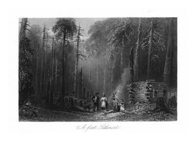 Canada, View of a First Settlement on the Frontier-Lantern Press-Art Print