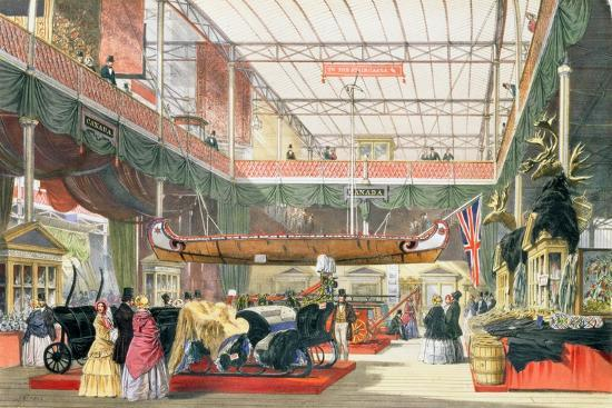 Canadian Hall at the Great Exhibition, Crystal Palace, 1851--Giclee Print