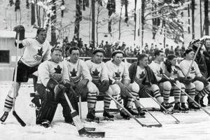 Canadian Ice Hockey Team, Winter Olympic Games, Garmisch-Partenkirchen, Germany, 1936