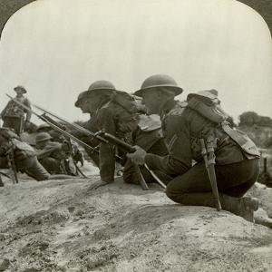 Canadian Infantry Rush a German Position, World War I, 1914-1918