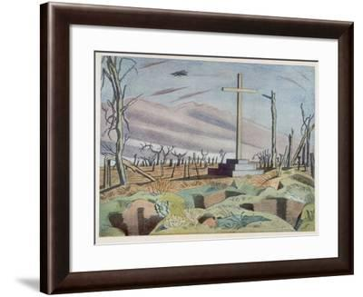 Canadian Monument, British Artists at the Front, Continuation of the Western Front, Nash, 1918-Paul Nash-Framed Giclee Print