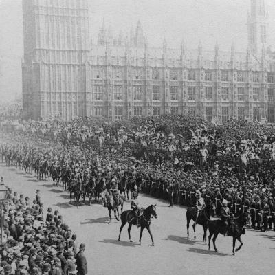 Canadian Mounted Troops, Procession for Queen Victoria's Diamond Jubilee, London, 1897-James M Davis-Photographic Print