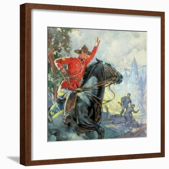 Canadian Mounties-McConnell-Framed Giclee Print