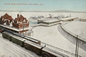Canadian Northern Railway Station and Docks, Port Arthur, Ontario, Canada