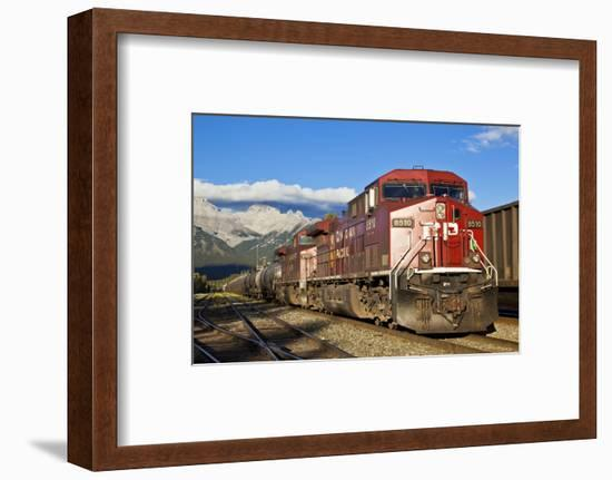 Canadian Pacific Freight Train Locomotive at Banff Station-Neale Clark-Framed Photographic Print