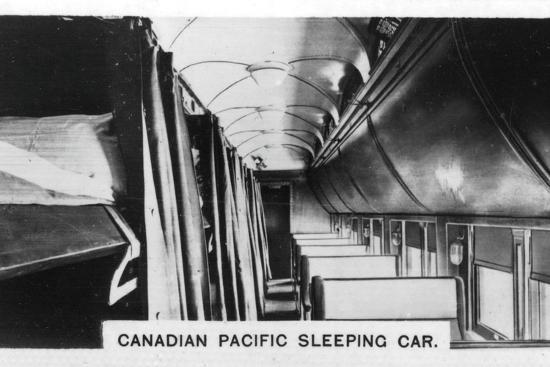 Canadian Pacific sleeping car, Canada, c1920s. Artist: Unknown-Unknown-Photographic Print