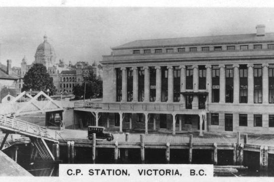 Canadian Pacific Station, Victoria, British Columbia, Canada, c1920s. Artist: Unknown-Unknown-Photographic Print