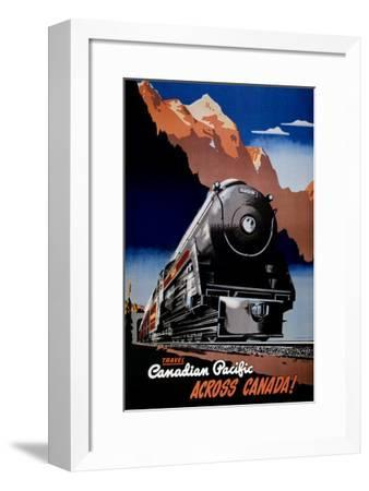 Canadian Pacific Train--Framed Art Print