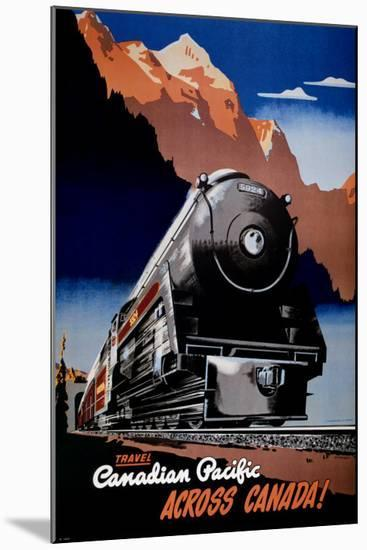 Canadian Pacific Train--Mounted Art Print