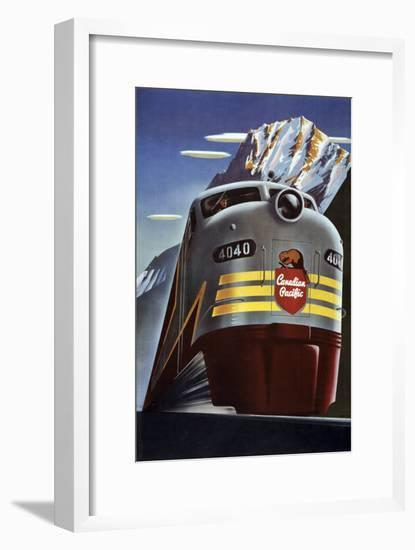 Canadian Pacific Train-null-Framed Giclee Print
