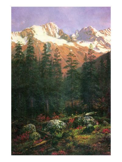 Canadian Rockies-Albert Bierstadt-Art Print