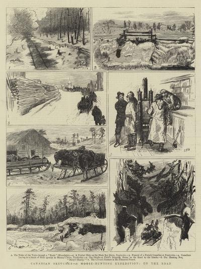 Canadian Sketches, a Moose-Hunting Expedition, on the Road-Sydney Prior Hall-Giclee Print