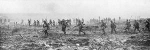 Canadian Troops in No Man's Land, Vimy, France, First World War, 9 April 1917