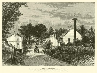 Canadian Village--Giclee Print