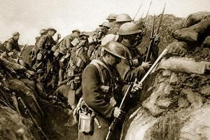 Canadians Fix Bayonets in Readiness for a Charge on the Somme, 1914-19