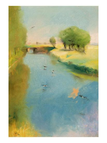 Canal, 1897 (Pastel on Canvas)-Lesser Ury-Giclee Print