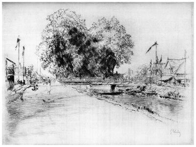 Canal a Troyes, C1880-1930-Gustave Leheutre-Giclee Print