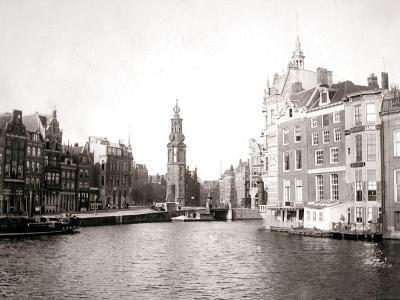Canal, Amsterdam, 1898-James Batkin-Photographic Print