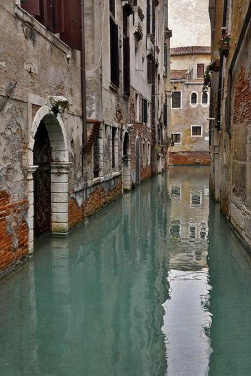 Canal and Doorways Venice, Italy-Darrell Gulin-Premium Photographic Print