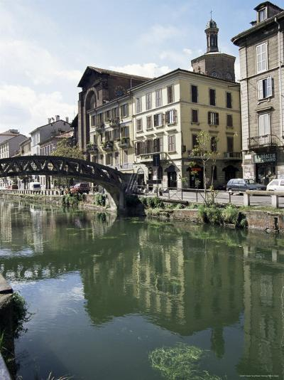 Canal at Porta Ticinese, Naviglio Grande, Milan, Lombardy, Italy-Sheila Terry-Photographic Print