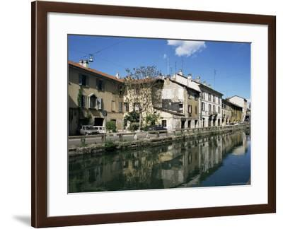 Canal at Porta Ticinese, Naviglio Grande, Milan, Lombardy, Italy-Sheila Terry-Framed Photographic Print