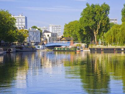 Canal Boats, Little Venice, Maida Vale, London, England-Jane Sweeney-Photographic Print
