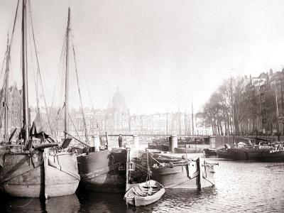Canal Boats, Rotterdam, 1898-James Batkin-Photographic Print