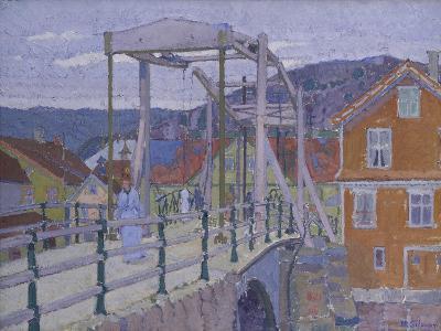 Canal Bridge, Flekkefjord-Harold Gilman-Giclee Print