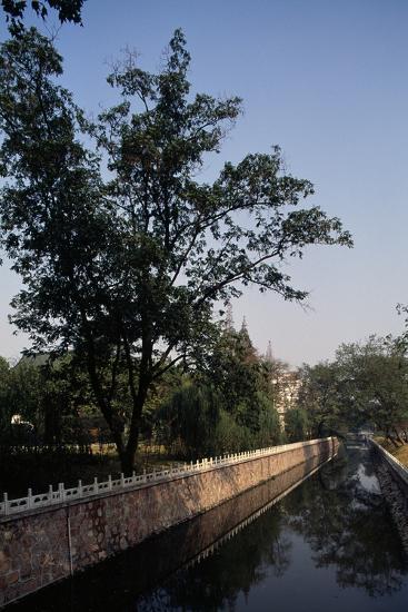 Canal Flanked by Trees, Ming Palace, Nanjing, Jiangsu, 14th Century--Giclee Print