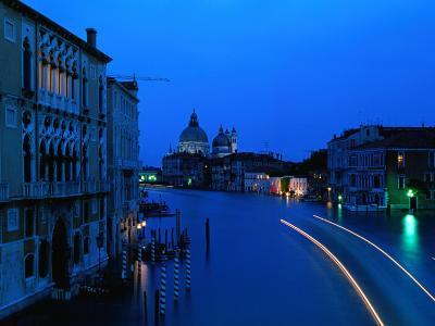 Canal from Accademia at Dusk, Venice, Italy-Christopher Groenhout-Photographic Print
