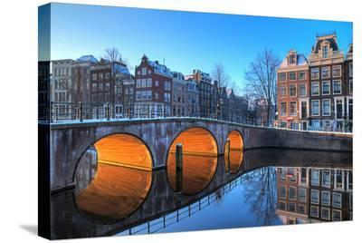 Canal In Amsterdam Netherlands--Stretched Canvas Print