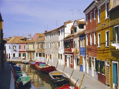 Canal in Burano, Venice, Italy-Fraser Hall-Photographic Print