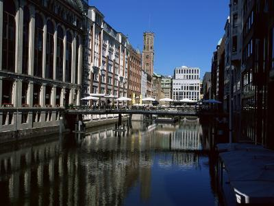 Canal in the Altstadt (Old Town), Hamburg, Germany-Yadid Levy-Photographic Print