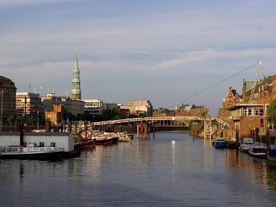 Canal in the Speicherstadt, the Historical Warehouse City of Hamburg, Hamburg, Germany-Yadid Levy-Photographic Print