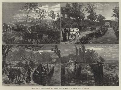 Canal Life-Ebenezer Newman Downard-Giclee Print