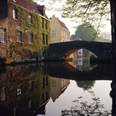 Canal Reflections, Bruges, Belgium-Roy Rainford-Photographic Print