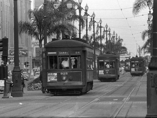 Canal Street Trolleys--Photographic Print