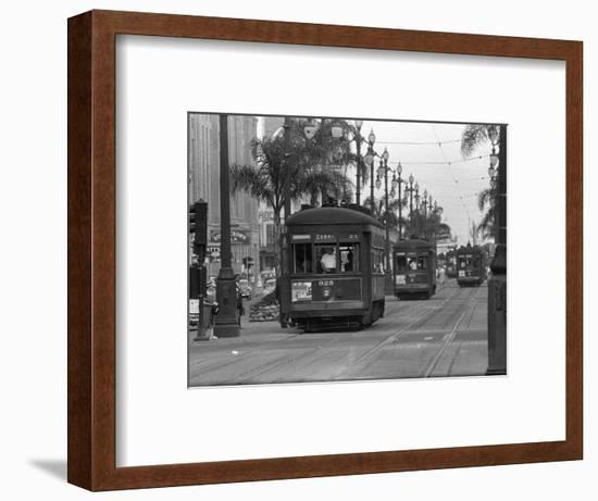 Canal Street Trolleys-null-Framed Photographic Print